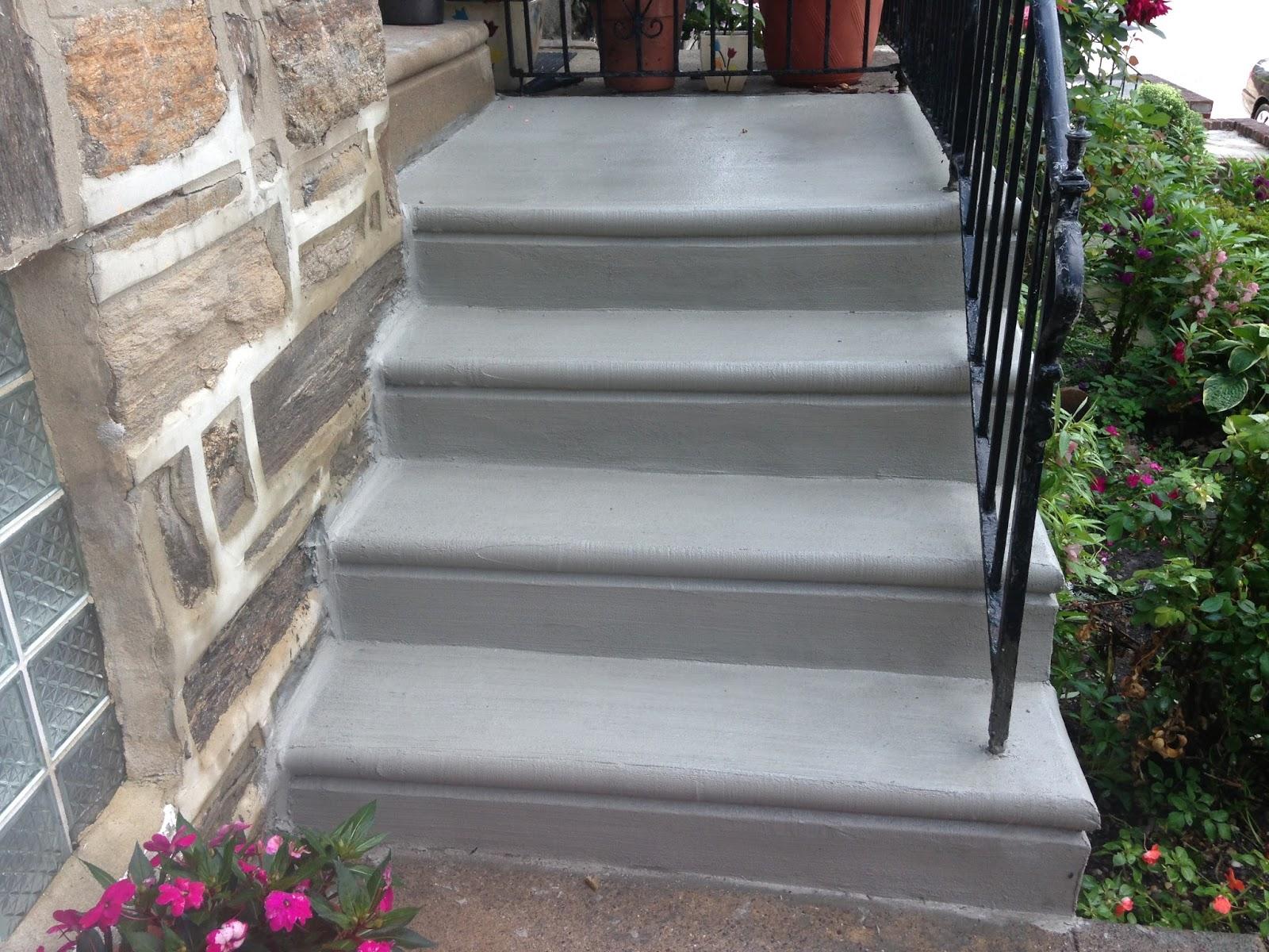 Philadelphia concrete contractor specialist how to - Resurfacing exterior concrete stairs ...