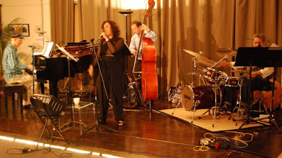 Lisa B (Lisa Bernstein) with Ben Flint, Fred Randolph, and Alan Hall at Musically Minded Academy