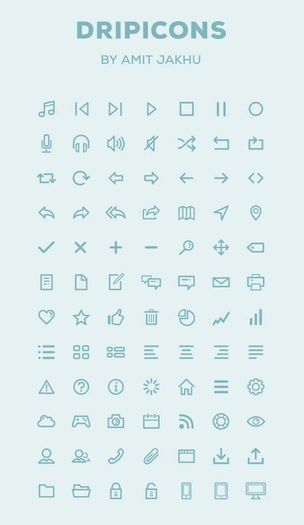Free Iconset PSD, Illustrator, Webfont