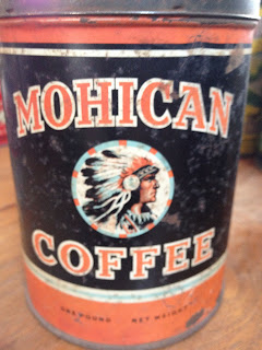 Antique Hunter Blog: Vintage Mohican Coffee Can