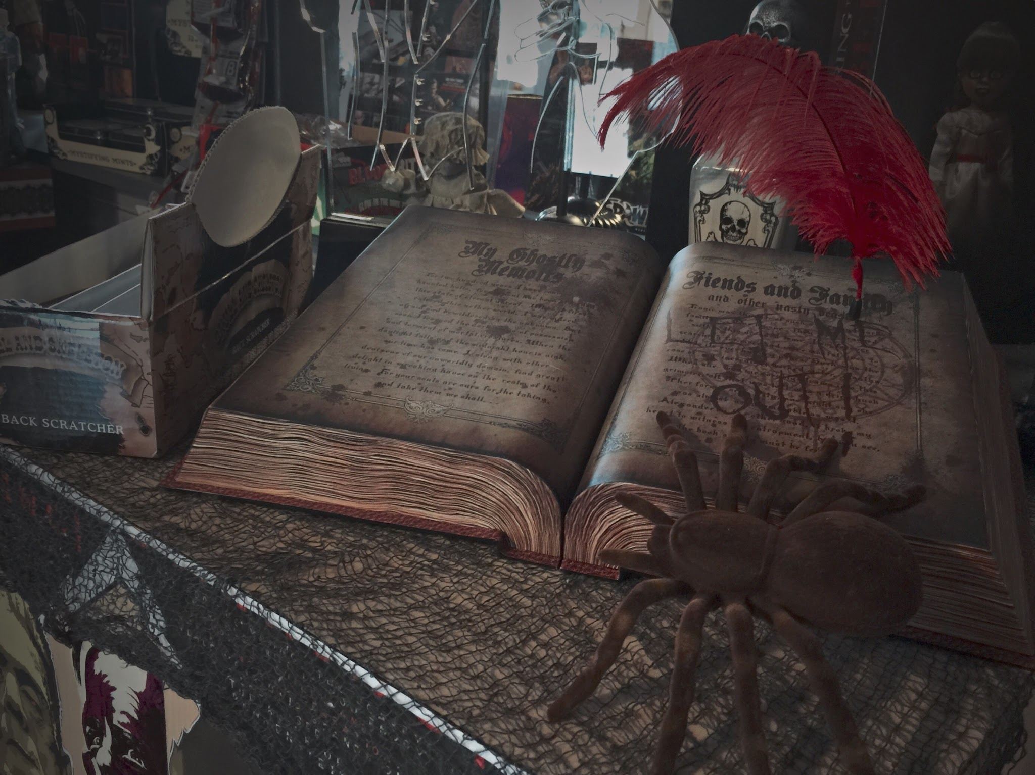 The haunted guestbook, a popular item this past Halloween