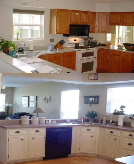Kitchen Cabinets Painted Before And After Photos: Kitchen Trends: Painting Kitchen Cabinets Before And After
