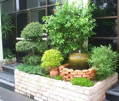 taman rumah kecil mini gambar rumah minimalis