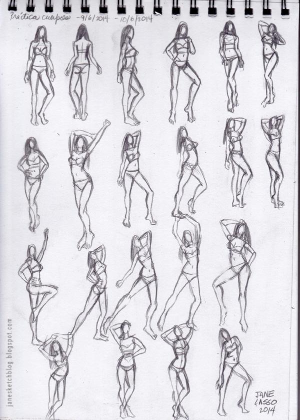 Dibujo gestual de mujer