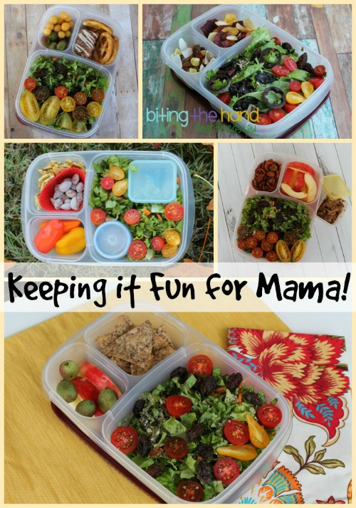 Eating the same healthy salad everyday can get boring. Keep it fun with yummy sides and some artful ingredients!