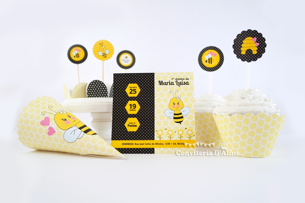 festa abelhinha personalizada