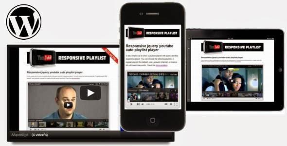 WordPress - jQuery Responsive Youtube Playlist