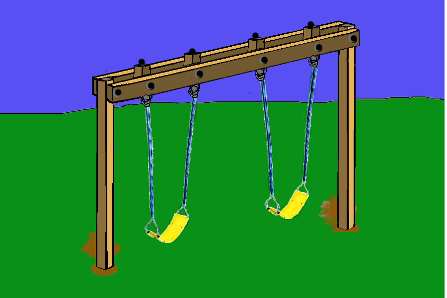 The journal of hairy chested adventism oh how i love to for Building plans for a frame swing set