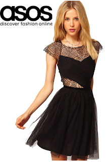 ASOS, Ashley Tisdale, Black, Skater Dress, Lace,