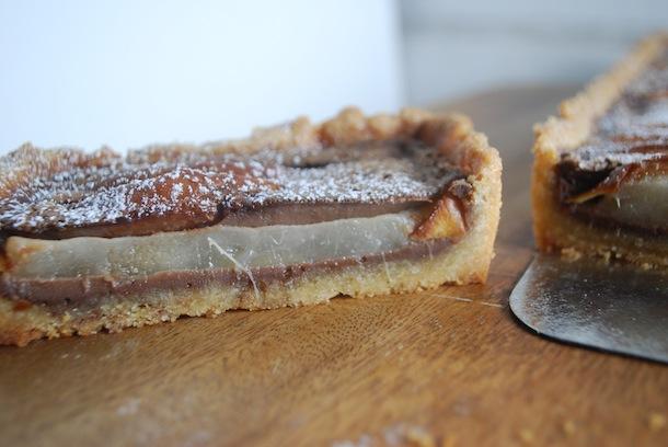 ... Pear Custard Tart with Almond Shortbread Crust - Always Order Dessert