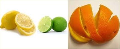 lemon-jeruk nipis - kulit jeruk