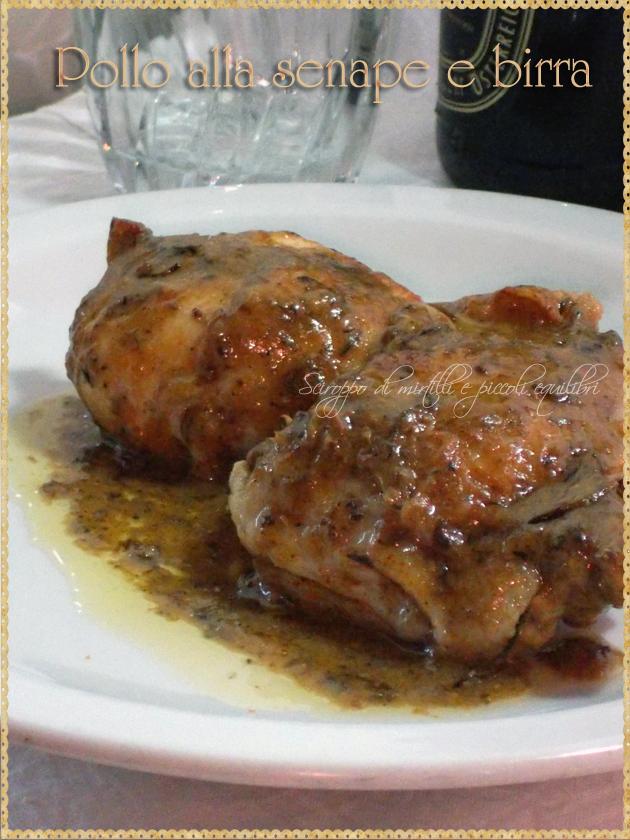 Pollo alla senape e birra