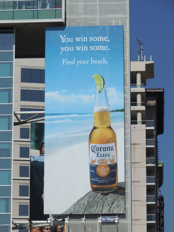 Corona Win Some beer billboard