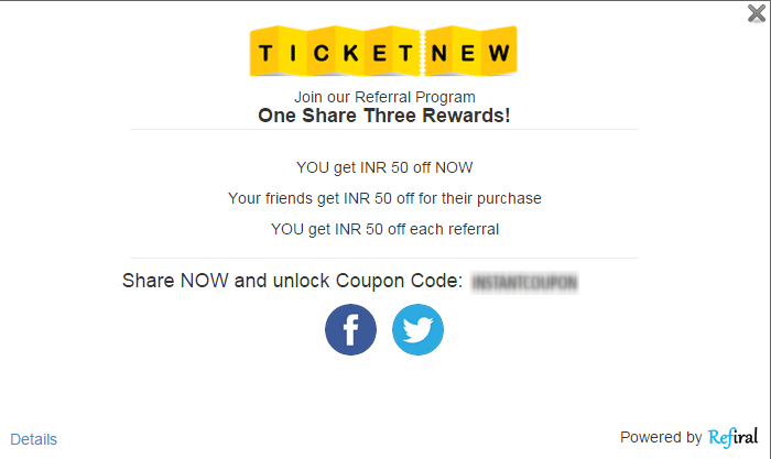 TicketNew Refer and Earn