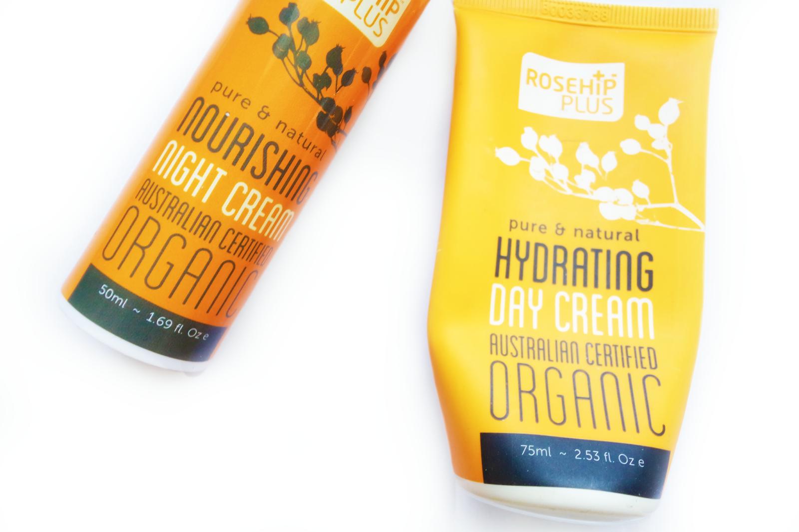 rosehipplus, hydrating day cream, nourishing night cream,
