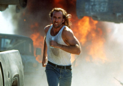 an analysis of the heroism in the movie con air by nicholas cage The rock, con air, and face/off not only made him into a star, but they made him into one of the most bankable action stars in hollywood all three films made over $220 million at the box office working with sean connery, john travolta, john cusack, and ed harris will do that to an actor.