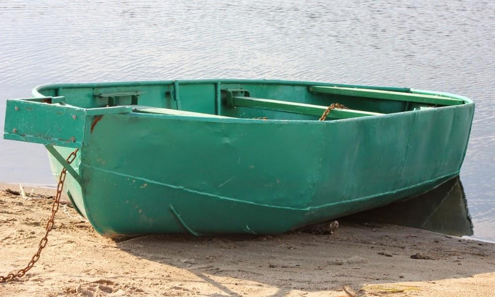 Металлическая самодельная лодка