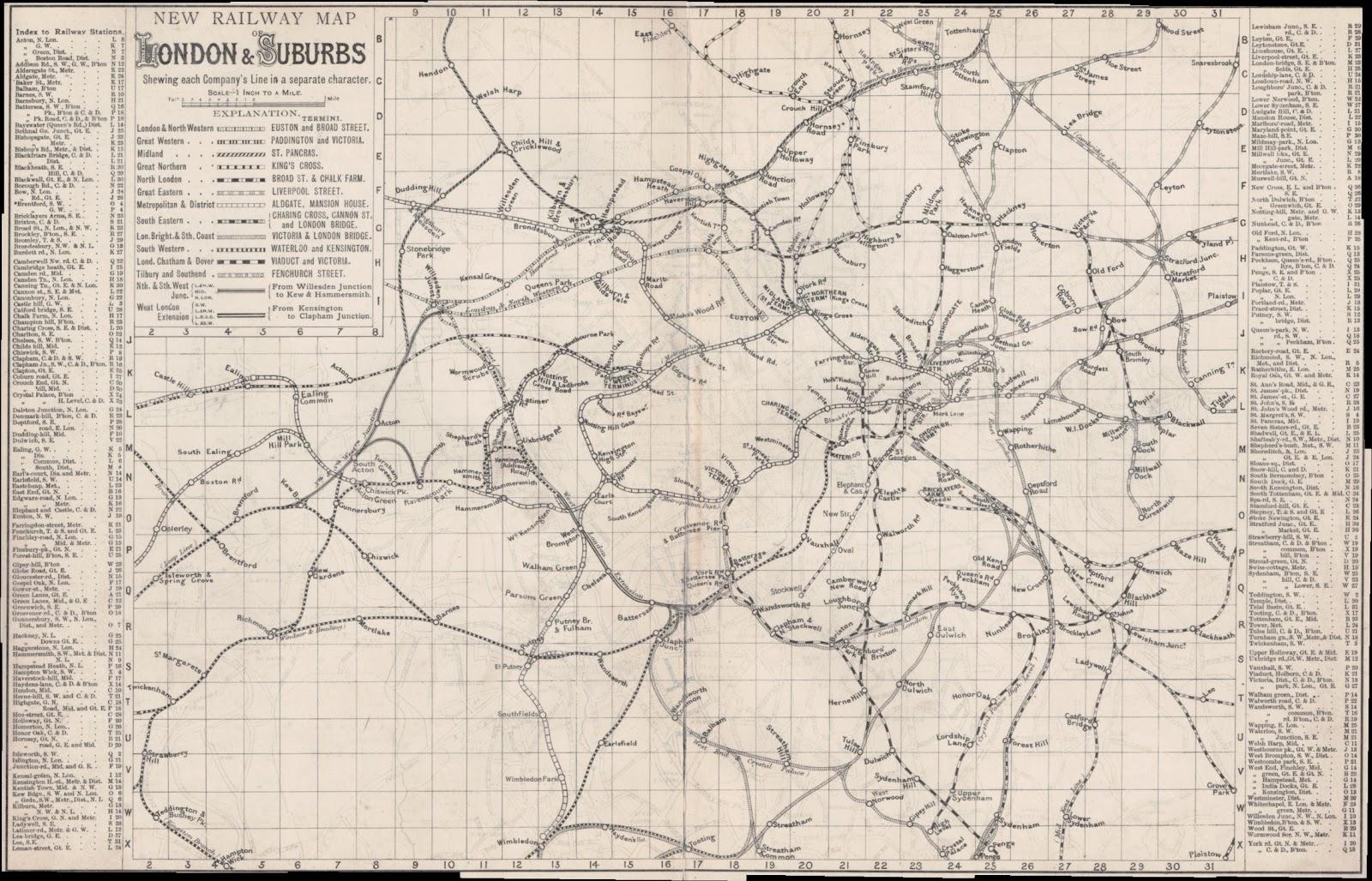 The Family Recorder April - Railway map usa 1890