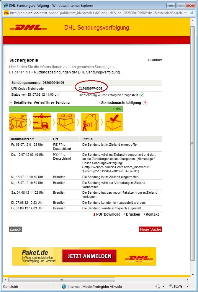 dicas online como rastrear remessas enviadas pela dhl global mail. Black Bedroom Furniture Sets. Home Design Ideas
