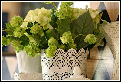 White Metal Vase