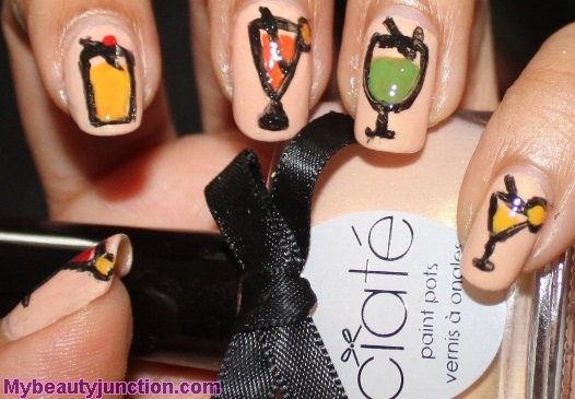 Tropical drinks manicure with Ciate Ivory Queen nail polish