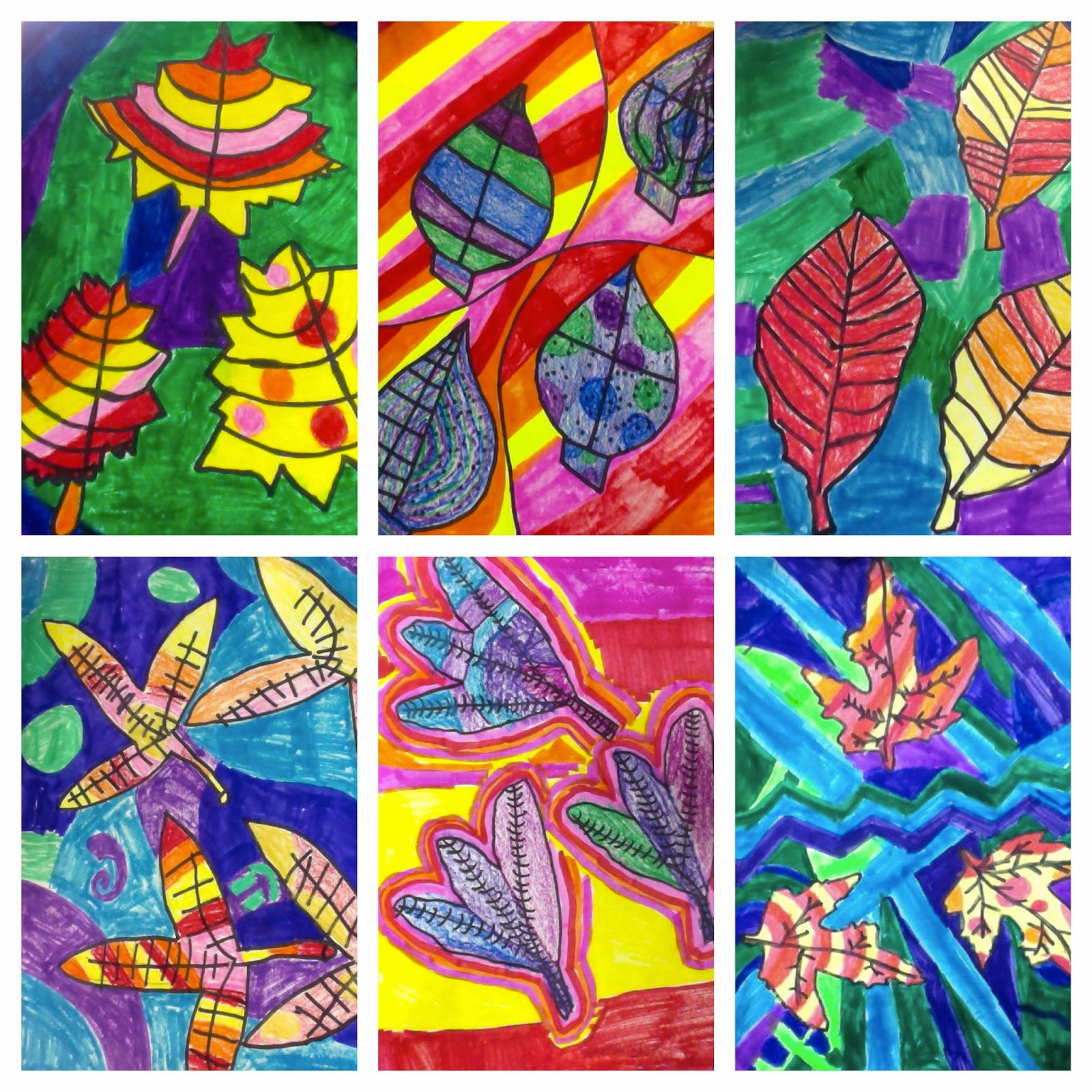 Art. Eat. Tie Dye. Repeat.: 2nd Grade Warm/Cool Color Leaves