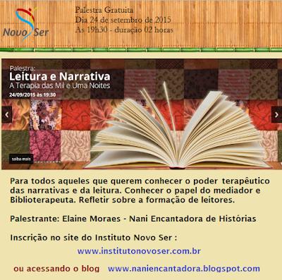 Palestra Biblioterapia - Elaine Moraes