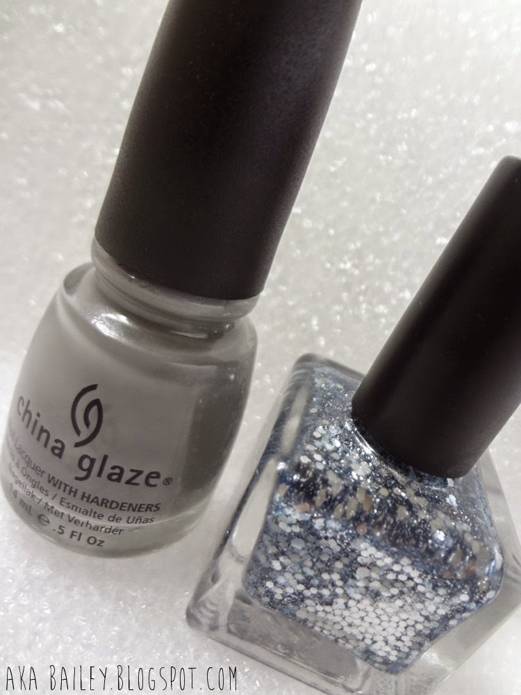 Recycle by China Glaze, Dust by Urban Outfitters, nail polish