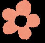 小さな花のイラスト「パステル・オレンジ」
