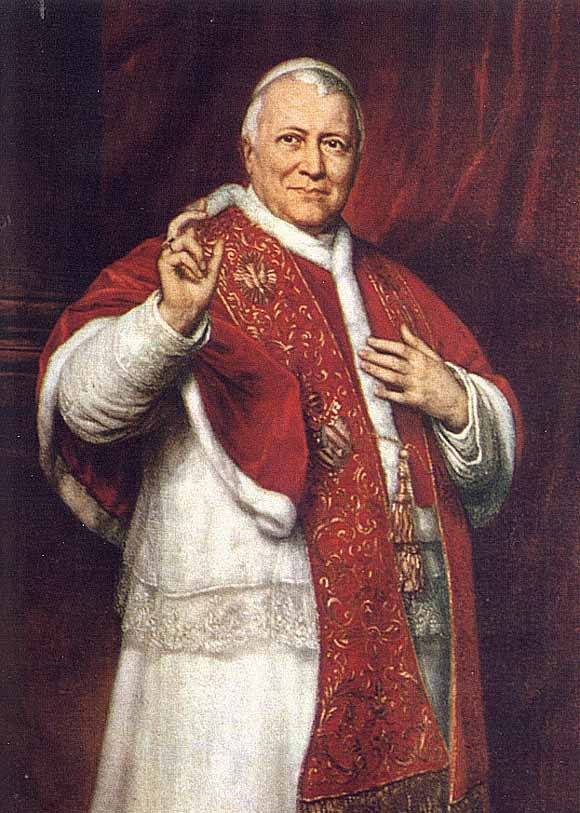 A portrait of Pope Pius IX
