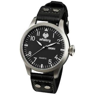 U.S INFANTRY Police Mens DATE&DAY Quartz Army Wrist Watch Leather Strap GIFT