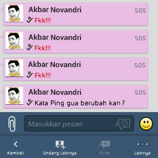 Cara Mengganti Text PING!!! di BBM Android