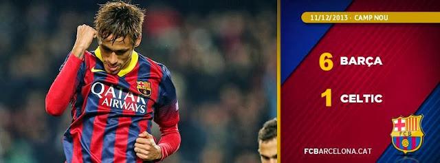 فيديو: اهداف مباراة برشلونة وسيلتيك بدوري ابطال اوروبا 6-1