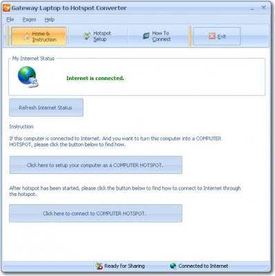 Gateway Laptop to Hotspot Converter v2.8