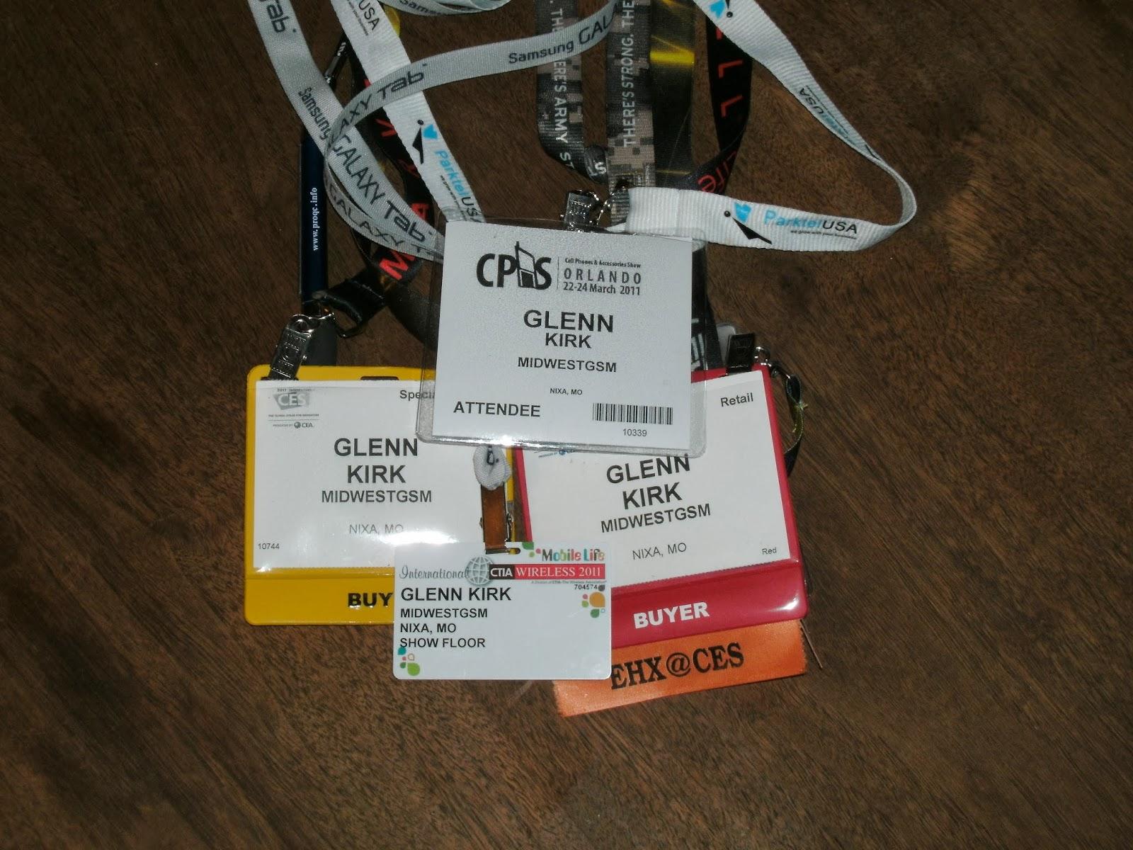 MidwestGSM CTIA CES CPAS badges
