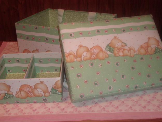 Mam nualidades caja ajuar de bebe - Cajas decoradas para bebes ...