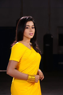 Poorna New Pictures in Yellow saree 014.jpg