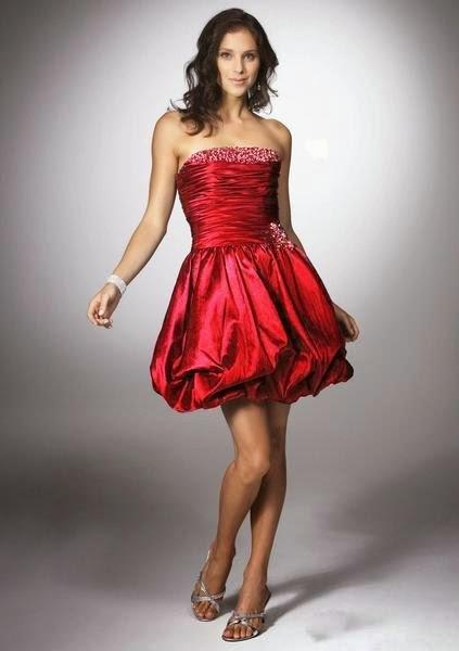 modelo de vestido balonê vermelho