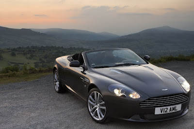Aston Martin DB9 2011 black