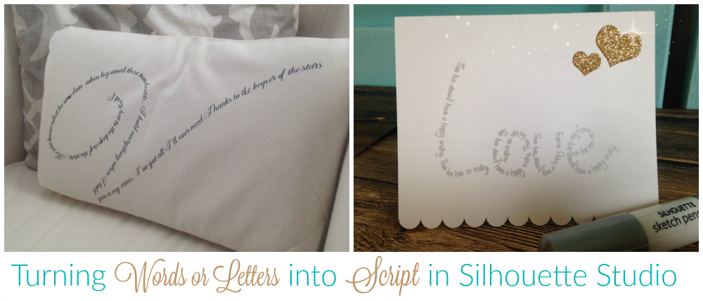 how to cut words out of a shape in silhouette