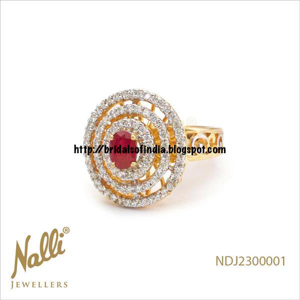 Bhima Jewellery Bands: Fashion World: Ladies Finger Ring With Diamond And Rubies