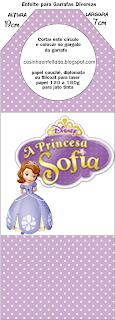 rótulo aniversário princesa sofia para imprimir grátis
