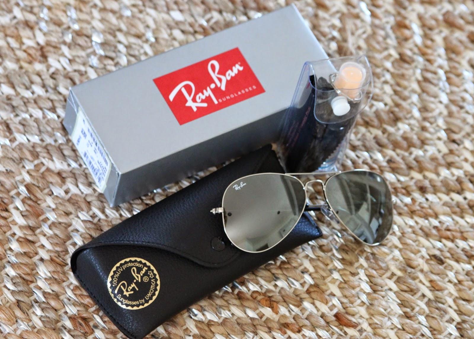 ray ban aviator sunglasses unboxing