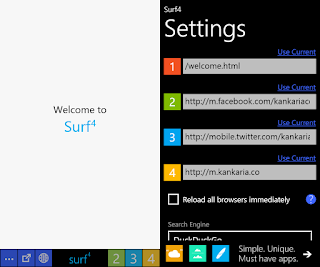 Surf4 browser for Windows Phone