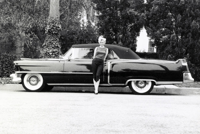 Marilyn Monroe and Black Cadillac