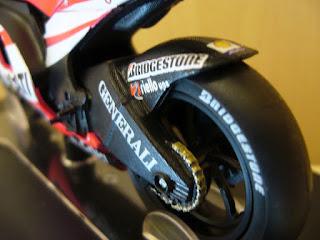maqueta de las motos de Valentino Rossi