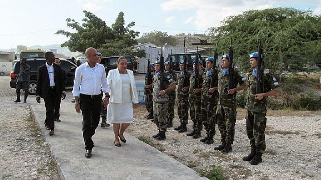 Cascos Azules brindaron seguridad al presidente haitiano 10