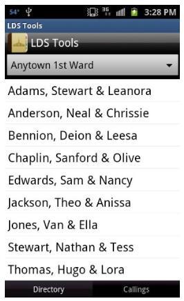 ward stake directories online