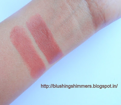 Lakme 9 to 5 Lipstick- Coffee Command swatches