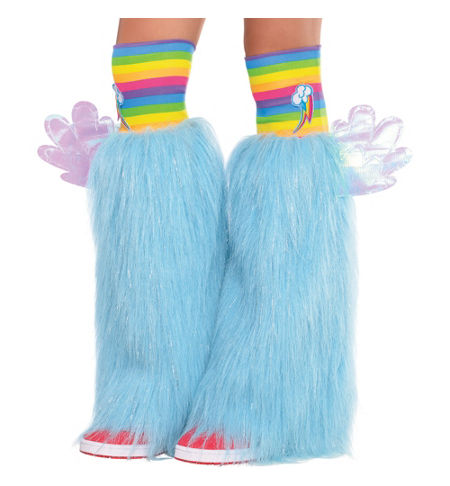MLP Rainbow Dash Adult Costume Furry Leg Warmers